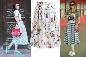 Kolorowa spódnica midi na luzie: pomysły na codzienne stylizacje