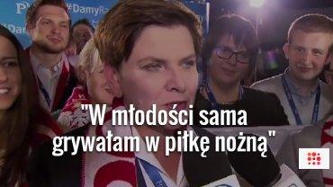 """Beata Szyd�o opowiada, jak w m�odo�ci grywa�a w pi�k�. Wtem pada pytanie: """"A co to spalony?"""""""