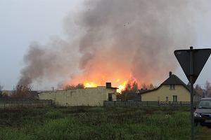 Stra�acy ugasili po�ar i uszczelnili gazoci�g w Jankowie Przygodzkim