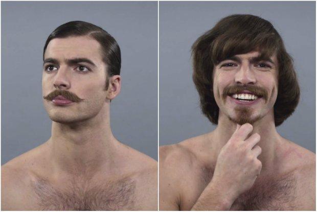 Przedzia�ek na �rodku czy sumiaste w�sy? Zobacz, jak przez 100 lat zmienia�a si� moda na m�skie fryzury i zarosty