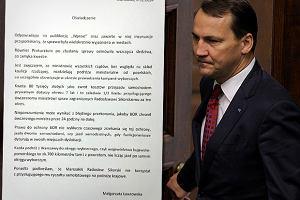 """Jest odpowiedź Sikorskiego na tekst """"Wprost"""". Marszałek na Twitterze: Dziękuję za potwierdzenie zdjęciem..."""