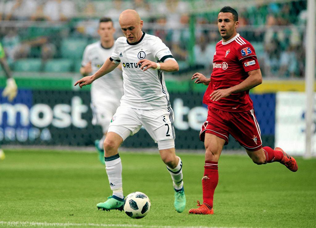 Michal Pazdan podczas meczu o mistrzostwo Ekstraklasy