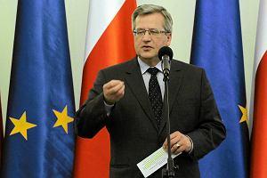 """Wybory prezydenckie. Bronis�aw Komorowski: """"40 lat pracy umo�liwi nam przej�cie na emerytur�. Jest projekt ustawy"""""""