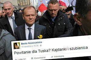 """""""Kajdanki i szubienica"""". Dyrektor z Ministerstwa Środowiska o powitaniu Tuska"""