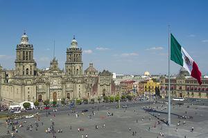 Miasto Meksyk. Główny plac miejski Zócalo