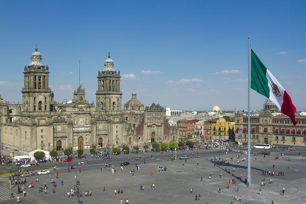 Miasto Meksyk. G��wny plac miejski Z�calo