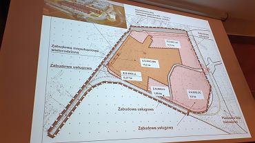 Uchwalony plan. Ciemniejszy teren to obszar pod zabudowę mieszkaniową. Deweloper chciał zabudować niemal cały obszar