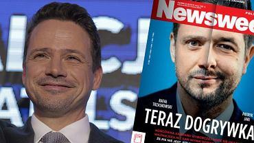 Rafał Trzaskowski i okładka tygodnika 'Newsweek'