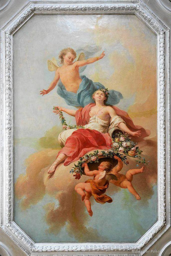 Plafon Zefir i Flora, 1778, Łazienka w Pałacu Myślewickim w Łazienkach Królewskich / MATERIAŁY PRASOWE