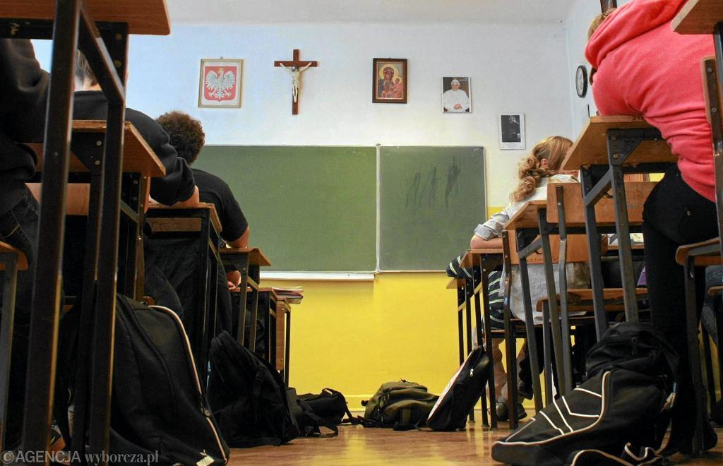 Lekcja religii w jednej z lubelskich szkół (fot. Rafał Michałowski / Agencja Gazeta)