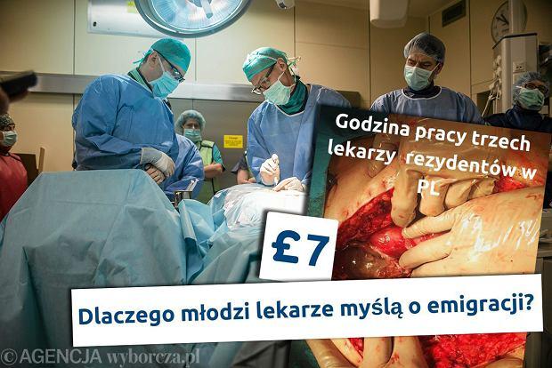Lekarze skarżą się na niskie pensje. Zrobili zaskakujący plakat