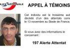 Policja opublikowała zdjęcie zamachowca spod paryskiego stadionu