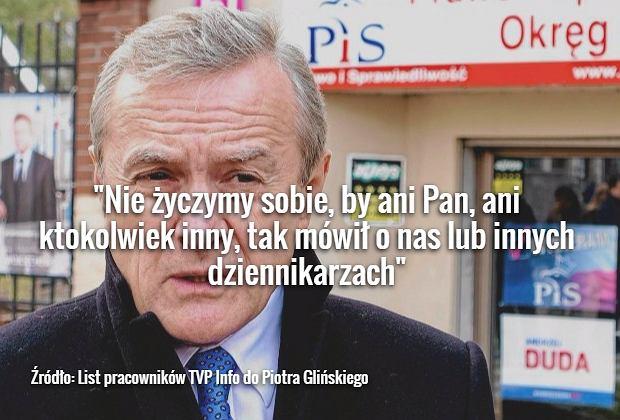 List pracowników TVP Info do Piotra Glińskiego