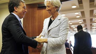 Christine Lagarde szefowa MFW i Nicolas Dujovne argentyński minister skarbu