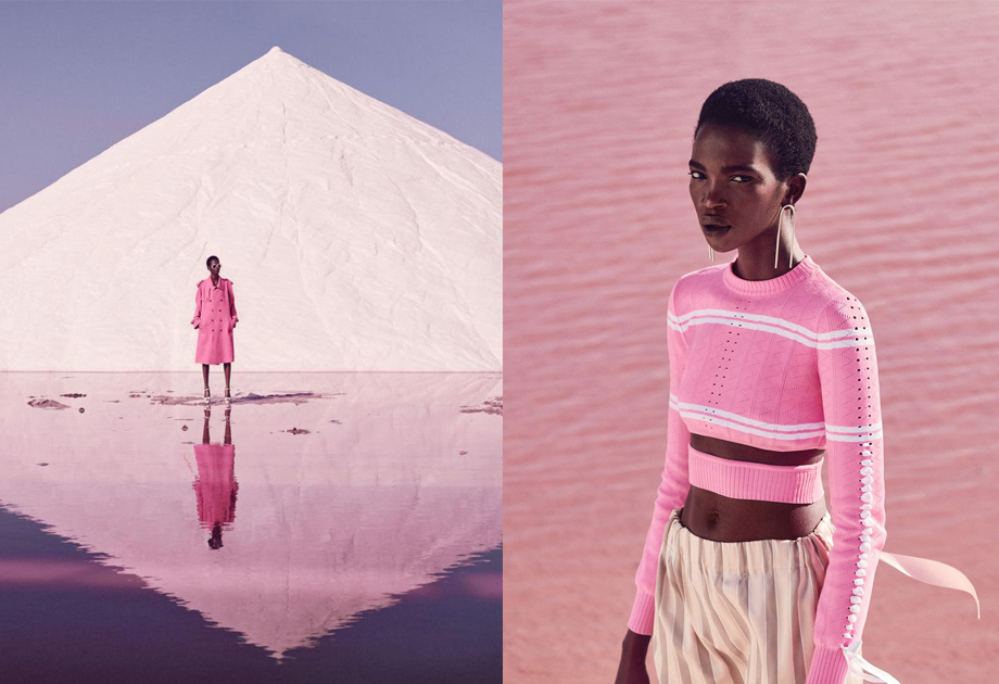 'Think Pink' Harper's Bazaar editorial