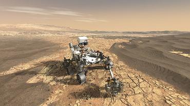 Marsjański łazik NASA (szkic koncepcyjny)