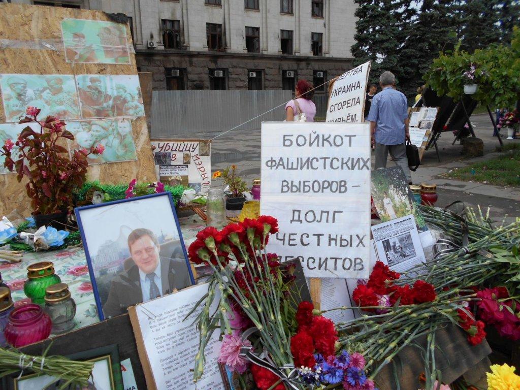Miejsce tragedii w Odessie. 2 maja zginęło tu 48 osób