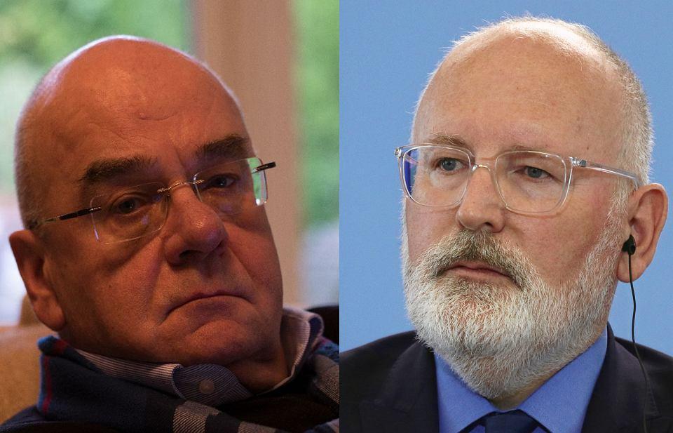 Prof. Jerzy Zajadło i Frans Timmermans