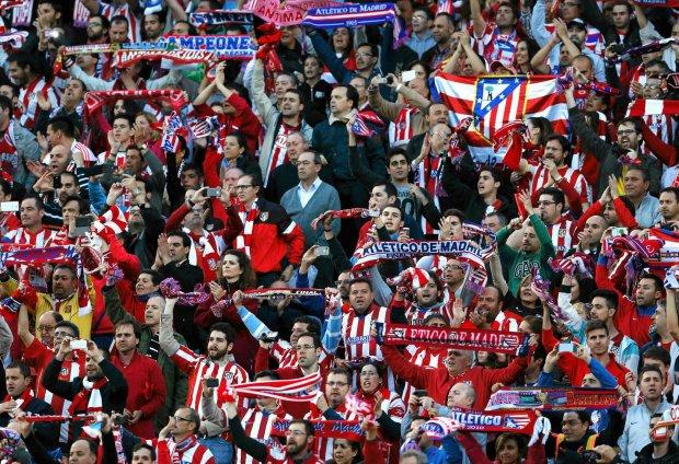 Atletico - Chelsea. Kibice przed meczem