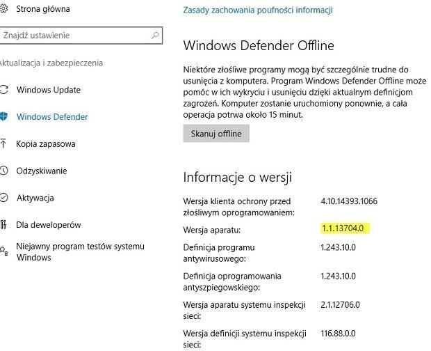 Windows Defender otrzymał krytyczną aktualizację