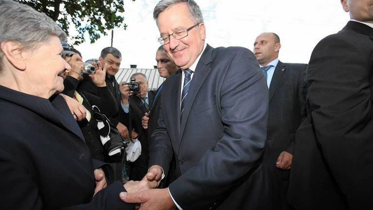 Prezydent Bronisław Komorowski w Michałowie