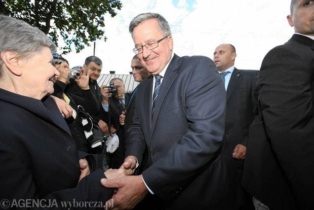 Prezydent Bronis�aw Komorowski w Micha�owie