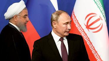 Na zdjęciu: Prezydent Iranu Hassan Rouhani podjął we wrześniu w Teheranie Władimira Putina, by omówić przyszłość Syrii