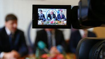 Minister Jarosław Gowin podczas wizyty w Słupsku