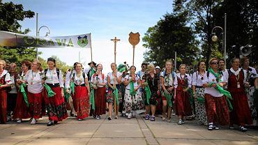 Częstochowa, 31 lipca 2017 r. Na Jasną Górę dotarła 36. piesza pielgrzymka góralska