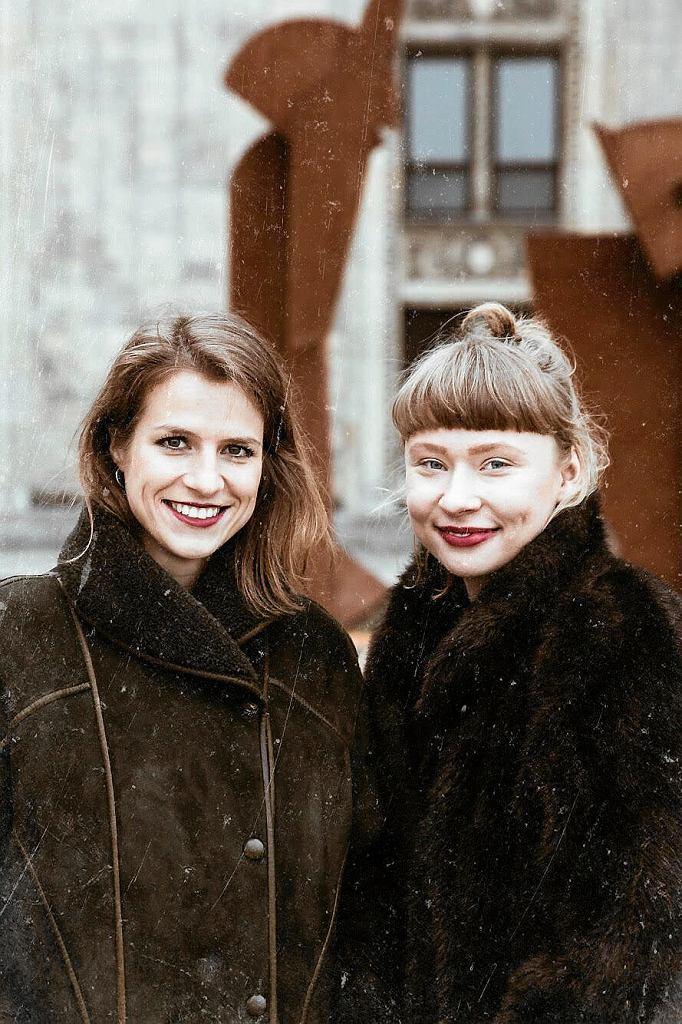 Karolina Więcek i Katarzyna Tarapata, twórczynie sklepu z ubraniami Mech Vintage /