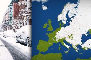 Niemal cała Europa zasypana śniegiem. Mieszkańcy pokazują to, co widzą za oknem [ZDJĘCIA]