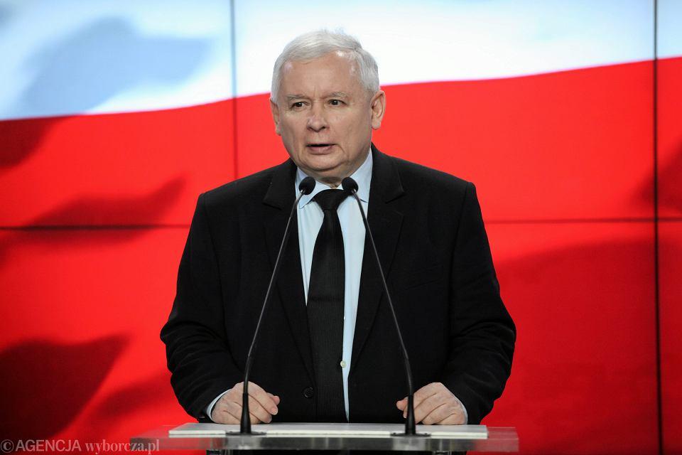 Konferencja prezesa PiS Jarosława Kaczyńskiego