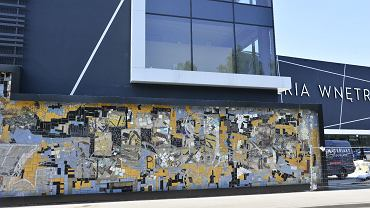 Mozaika Bieńka przy ul. Partyzantów