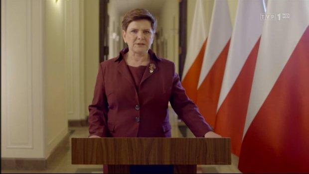 Orędzie premier Beaty Szydło