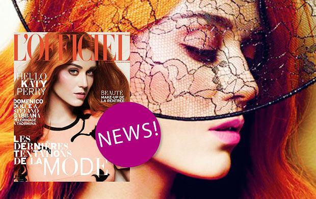 """Rudowłosa Katy Perry w magazynie """"L'Officiel"""" - nie do poznania?"""