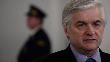 Były premier, obecnie senator Włodzimierz Cimoszewicz