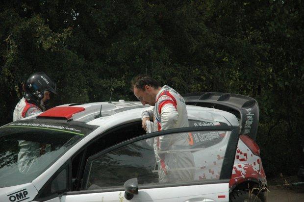Robert Kubica, Maciej Szczepaniak 71. Rajd Polski 2014, OS 15 Baranowo