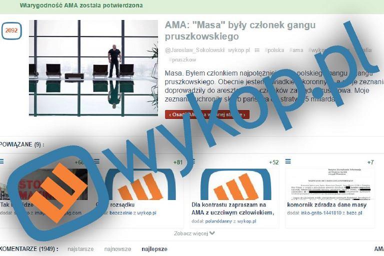 Sesja AMA z Masą oburzyła część użytkowników Wykopu
