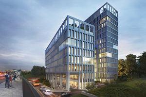 Kolej na Vector + kwartał budowy pierwszego biurowca w północno-zachodniej Woli