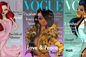 Vogue z ilustracjami z Disneya