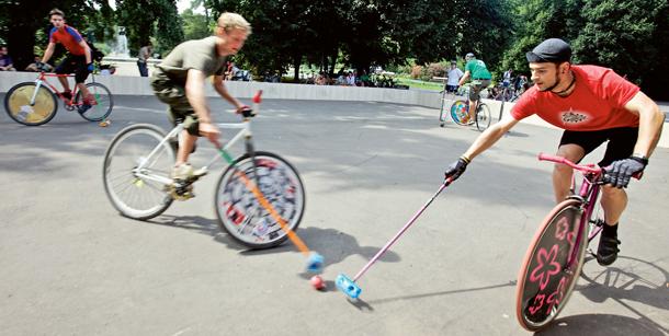 Bike polo, rowery, ostre koło