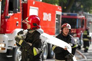 Protest strażaków; w środę spotkanie z szefową MSW