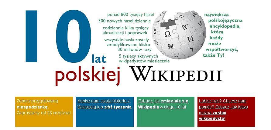 10 lat polskiej Wikipedii