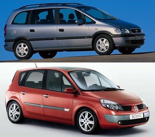 Renault Scenic vs Opel Zafira