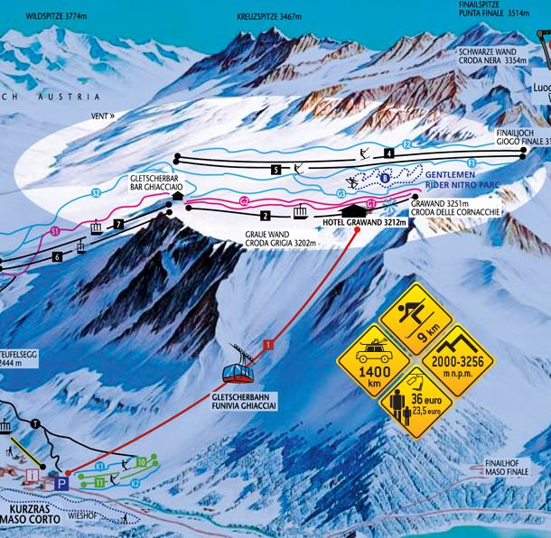 Narty w Alpach. Hochjoch - Włochy