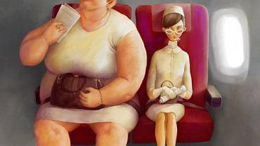 Czy otyli pasażerowie w samolocie powinni płacić za dwa miejsca?