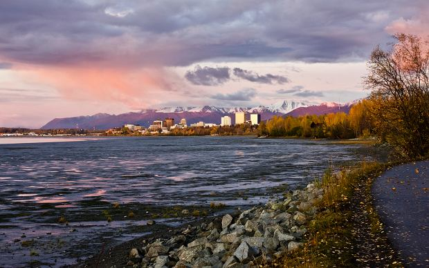 Alaska. Brama Alaski. Anchorage