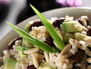 Awokado z ryżem