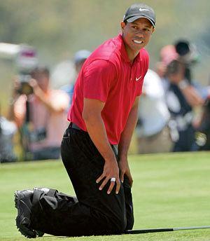 sport,wypadek,kontuzja, Tiger Woods