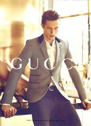 Greg Nawrat w kampanii Gucci, wiosna 2012